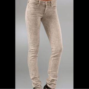 Vince Tan/Beige Acid Wash Skinny Jeans Size 25 EUC